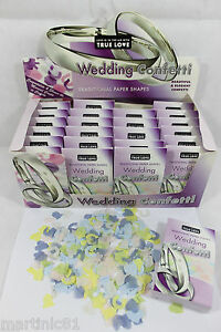 TRADITIONAL-PAPER-SHAPES-WEDDING-CONFETTI-X-24-BOXES-THROWING-DECORATION-COLOUR