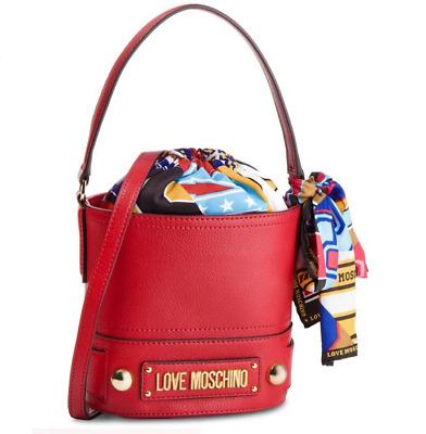 Love Moschino BORSA A SECCHIELLO RossoGiallo | eBay