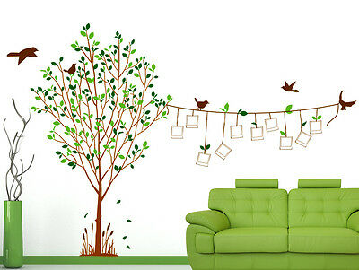 6900033 | Wall Stickers Tree with Blank Photo Frames Hanging