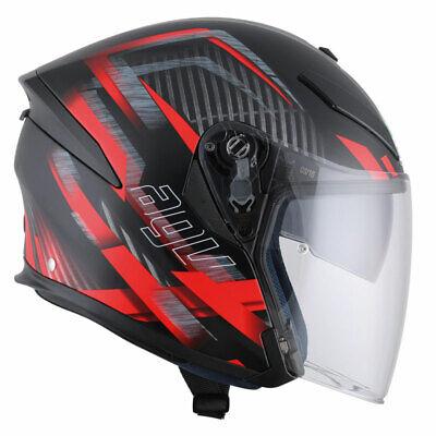 Motorcycle Helmet Agv K 5 K5 Jet Urban Hunter Matte Black Red Size L Ebay