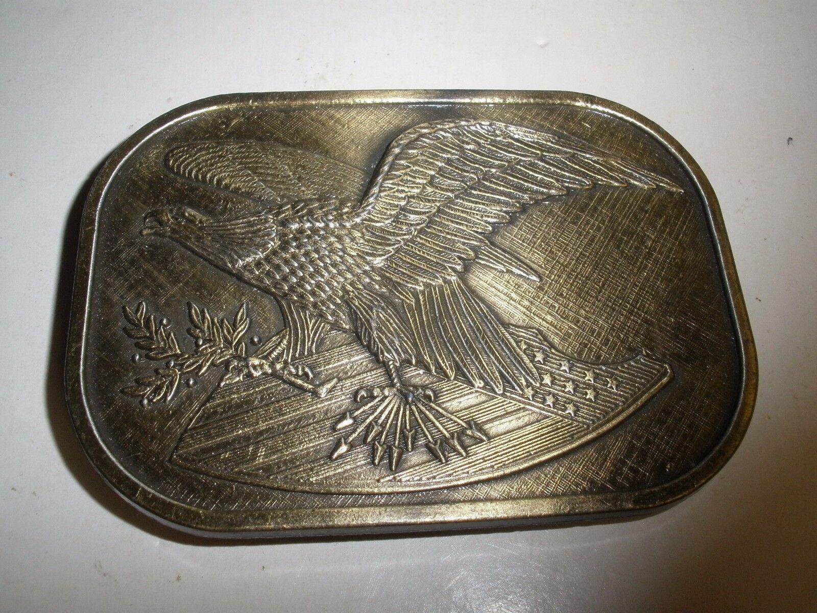 200TH ANNIVERSARY AMERICAN EAGLE BELT BUCKLE BRONZE TONE 17507