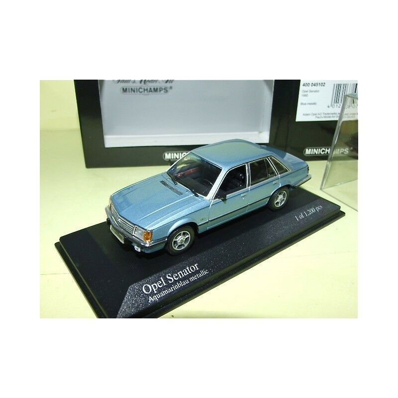 OPEL SENATOR 1980 blue MINICHAMPS 1 43