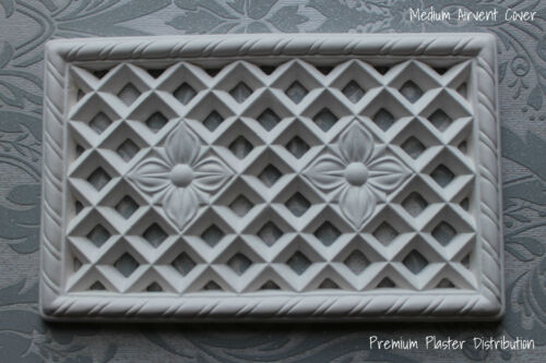 Handmade Plaster Air Vent Cover Medium Victorian Design 350mm X 210mm
