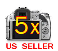 5x Clear Lcd Screen Protector Guard Film For Panasonic Lumix Dmc-g5