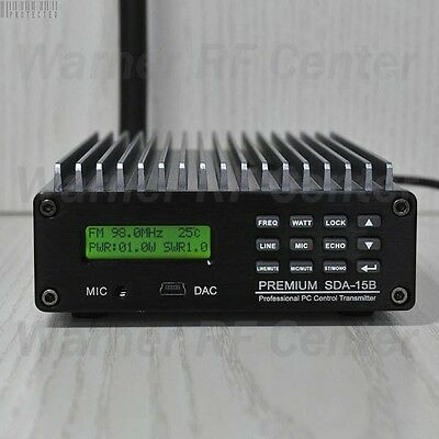 CZE-15B 0.3-15W broadcast radio station FM Transmitter+Power supply+GP antenna
