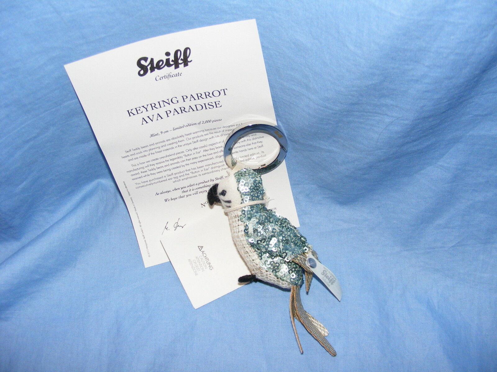 Steiff Schlüsselring Papagei Ava Paradies Limitierte Auflage - EAN 034022