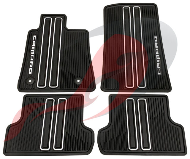 GM Accessories 22802172 Front and Rear All-Weather Floor Mats with Diamond Pattern and Retainers