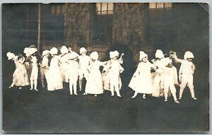KIDS-ELEGANT-DANCING-ANTIQUE-RPPC-REAL-PHOTO-POSTCARD-JAMAICA-N-Y-POSTMARKED