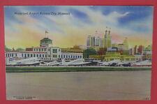 VTG POSTCARD-MUNICIPAL AIRPORT-KANSAS CITY MISSOURI-MO