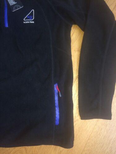 Womens North Trail Fleece Soft Sweatshirt 1//4 Zip Top UK Medium Thornton NEW H