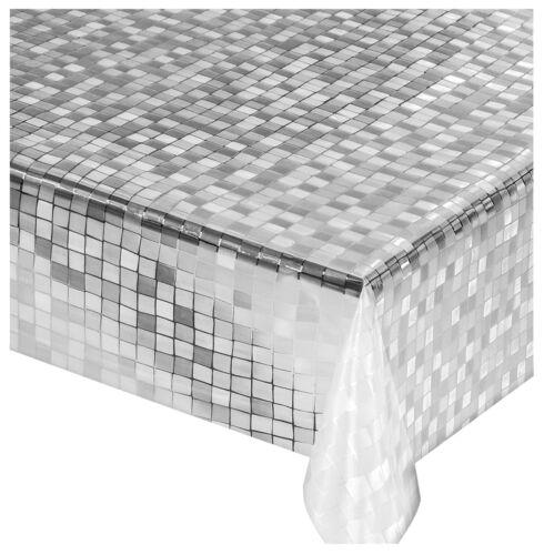 Tovaglia trasparente quadretti al metro h140 pvc antimacchia tavolo sala pranzo