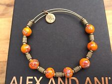 ALEX and ANI ASSORTED VINTAGE Ceramic Flower SINGLES Beaded GOLD Tigris BANGLE