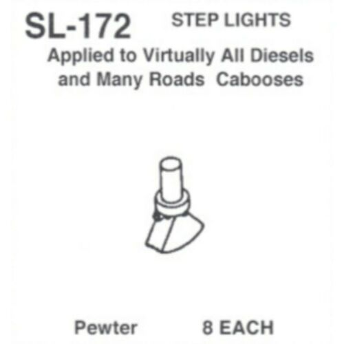 Details West 172 Step Lights HO Scale All Diesels Some Cabooses 8