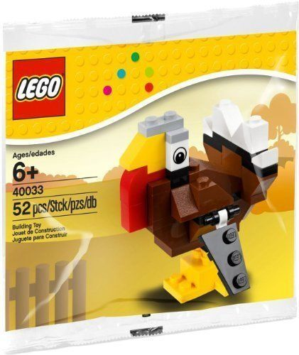 NEW 2012 LEGO Thanksgiving Holiday Turkey #40033 POLYBAG
