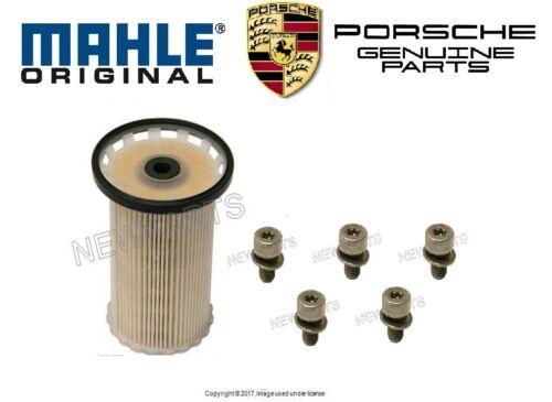 For Porsche Cayenne 3.0L V6 Diesel 2013-2016 Set of Fuel Filter /& Bolts