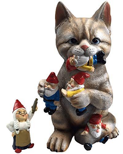 By Mark Margot Mischievous Cat Garden Gnome Statue Figurine Best Art Decor For Sale Online Ebay