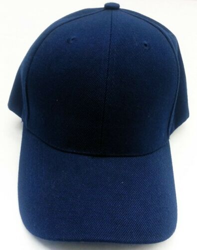 WHOLESALE LOT 12 Youth Kids size Plain Blank Solid Baseball caps hats NEW