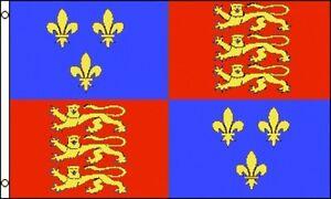 3-039-x5-039-Queen-Elizabeth-I-Flag-UK-British-Royal-Coat-Of-Arms-Monarchy-England-3x5