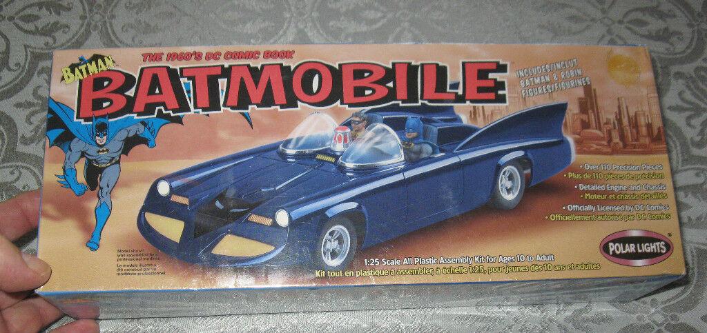 1960's DC Comic Book 1 25 Batmobile 1960's  Model Kit MB FREE SHIPPING
