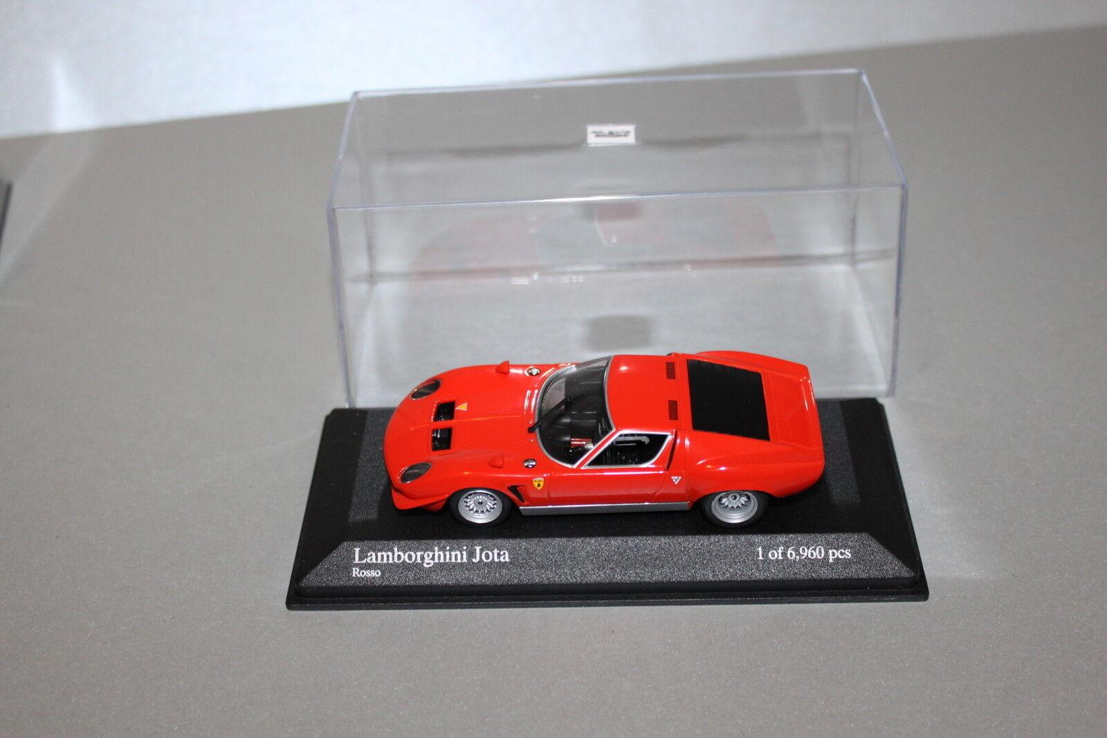 Minichamps Lamborghini Jota rouge limitée 1 43 en vitrine