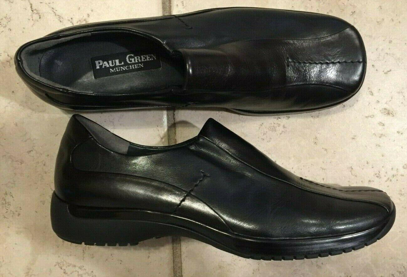 Paul verde Munchen Zapatos informales de cuero negro UK5 US 7.5 Usado en excelente condición mínimo desgaste