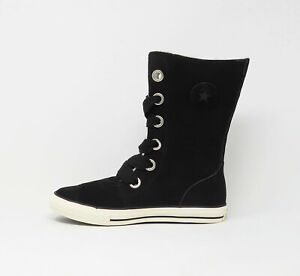 Details about CONVERSE Big Girls Youths Children Shoes Chuck Taylor Beverly Lace Up XHi Black