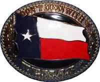 Texas Map Lone Star Dont Mess With Texas Belt Buckle (4x3 Inches)