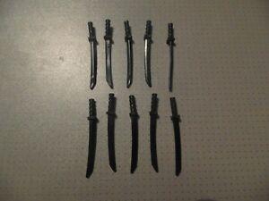 Lego - Castle Weapons - 10 Black Katana / Sword (30173)