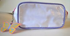Clinique make up bag pink purple butterfly design cosmetic pouch