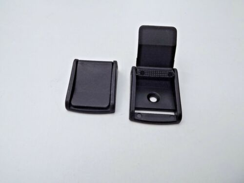 25mm  Cam Flap lever Buckle Fastening x 10 for 1 inch Webbing Black Plastic