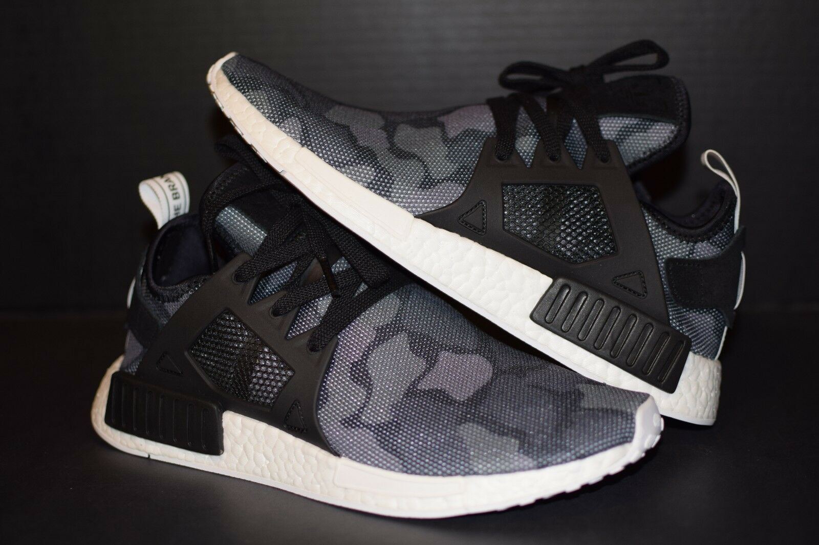 ed2499b3c Mens adidas NMD Xr1 Duck Camo Core Black Running White BA7231 US 10 ...