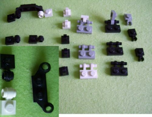 Clip Platte Griff 21x Lego Set versch Griffplatten Offsethalter