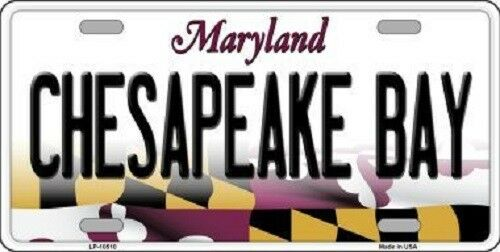 Chesapeake Bay Maryland Metal Novelty License Plate