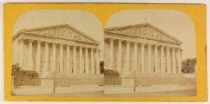 Parigi Montaggio Nazionale Francia Foto Stereo PL55L5n Vintage Albumina