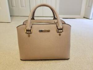 892c3671a106b9 Image is loading Michael-Kors-Savannah-Saffiano-Leather-Small-Satchel-Blush-