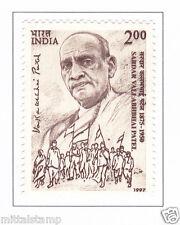 PHILA1588 INDIA 1997 SARDAR VALLABHBHAI PATEL MNH