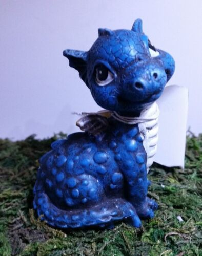 Miniature Dollhouse Fairy Garden Red or Blue Dragon Dinosaur Baby