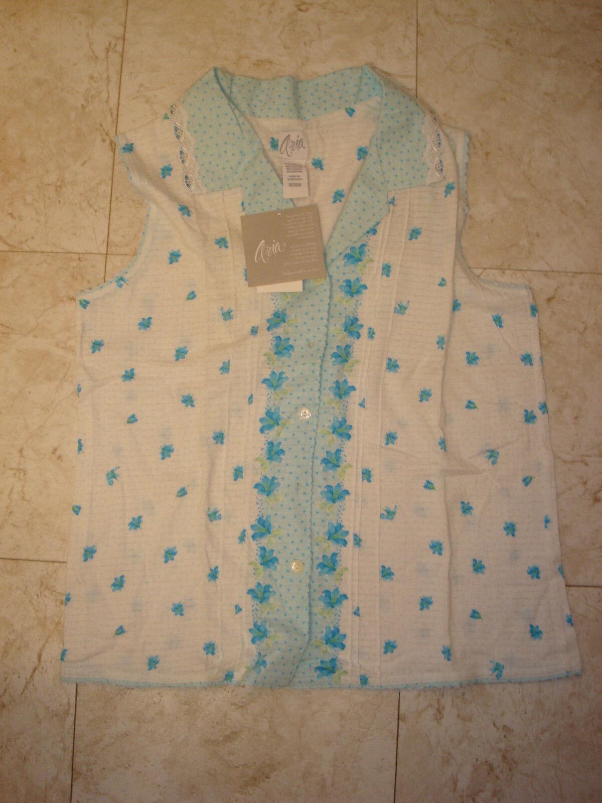 Medium Aria Two Piece Pajama Set Cropped CAPRI Pants NWT
