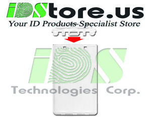 Clear-Vertical-Permanent-Locking-ID-Badge-Holders-Hard-Plastic-Case-for-ID-039-s