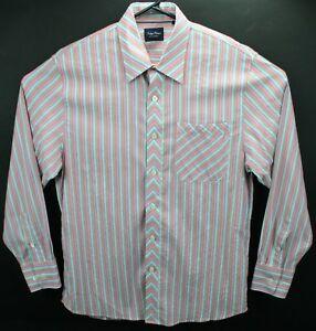 ef7db35d21 Indigo Palms Denim Company men s multicolor striped shirt Large ...