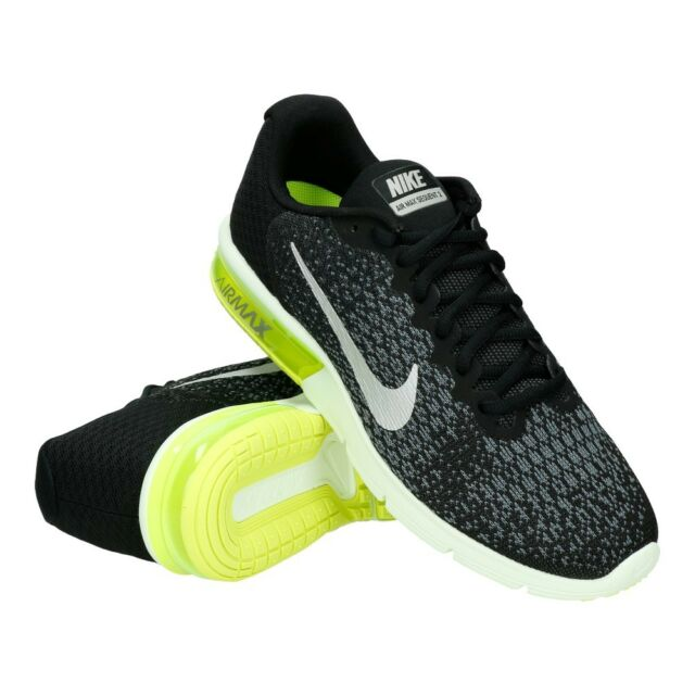 dd81f1895ef Nike Air Max Sequent 2 II Black Cool Grey Men Running Shoes SNEAKERS ...
