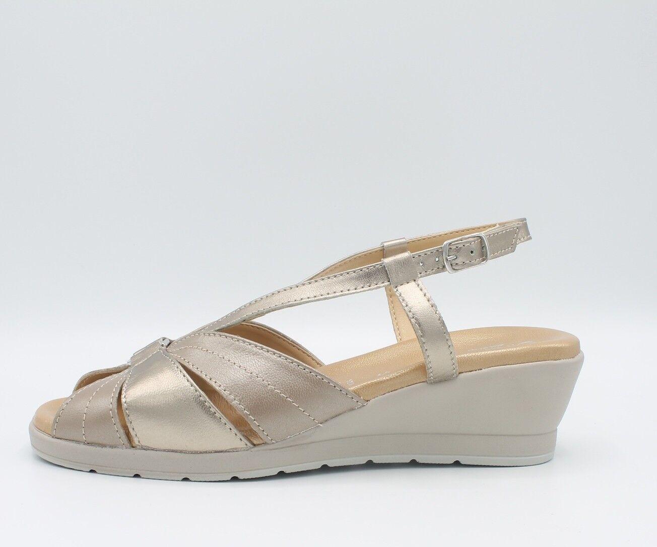 CINZIA SOFT Frauenschuhe Sandalen linea komfortabel IO803 IO803 IO803 aus Leder Laminat Gold    Toy Story    Überlegen    Förderung  89def4