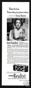 1950s-Vintage-Stereo-Realist-Camera-Joan-Crawford-Actress-Photo-Print-Ad
