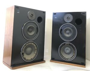 RARE-ELECTRO-VOICE-INTERFACE-C-SERIES-II-2-SPEAKERS-WALNUT-CABINETS