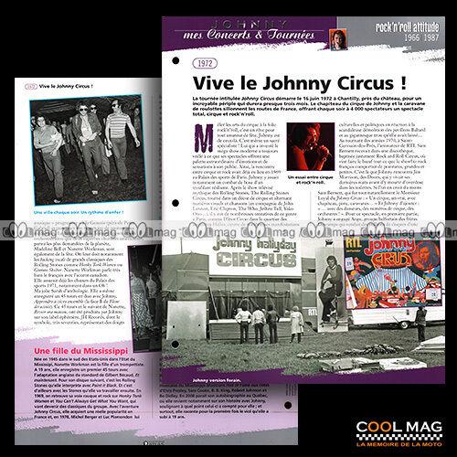 RADIO RTL 1972 ★ Fiche JOHNNY HALLYDAY #jh008.02 ★ LA TOURNEE /'JOHNNY CIRCUS/'