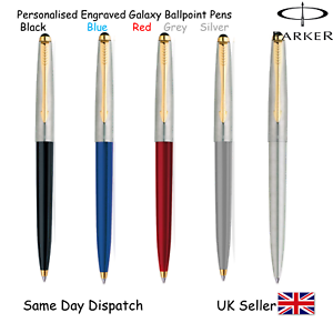 PERSONALISED-ENGRAVED-PARKER-GALAXY-PEN-BALLPOINT-GIFTBOX-BLACK-BLUE-RED-SILVER