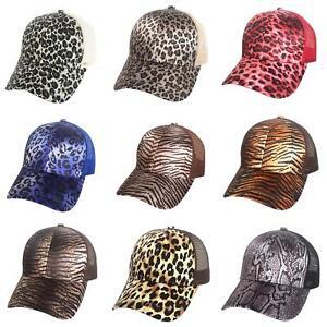 Eg-Leopard-Tigre-Imprime-Rayures-Femme-Queue-de-Cheval-Support-Maille