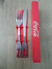 Coca-Cola Cutlery Fork & Knife Set Original Licensed Product Summer SALE