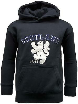 Children/'s Plain Scotland Football Top In Navy Lion Rampant Logo Size 7-8 Years