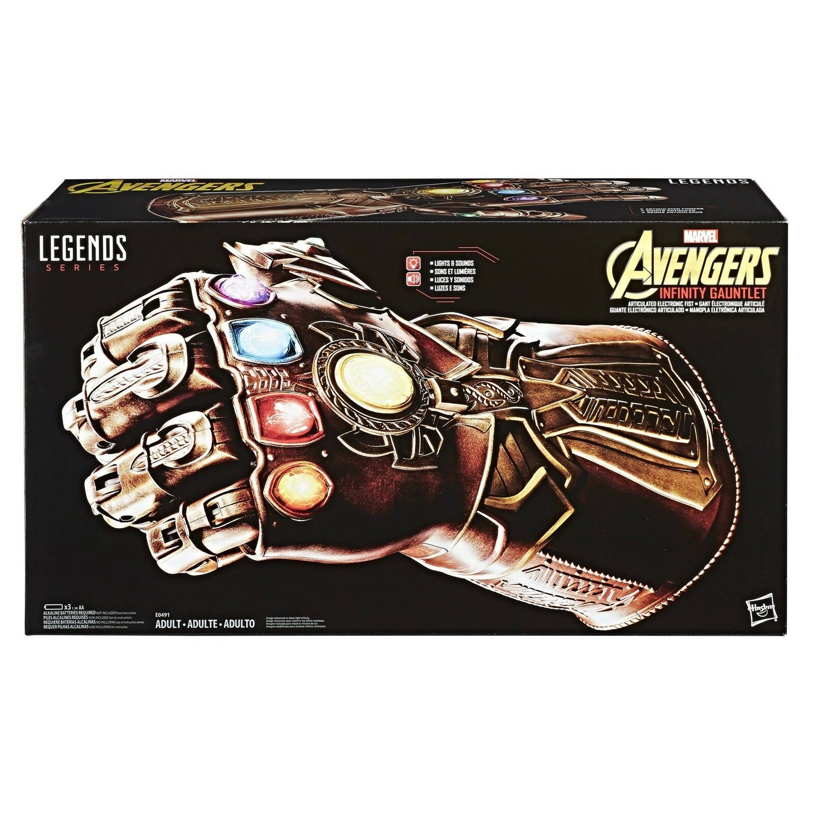 NEW NEW NEW Marvel Legends Series Infinity Gauntlet Articulated Fist Hasbro Avengers 306945